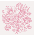 Bouquet of spring flowers on a white background vector image vector image