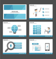 Businessman presentation templates infographic set vector image vector image