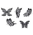 Butterfly tattoos vector image vector image