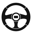 Car steering wheel icon simple style vector image vector image
