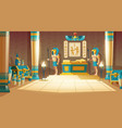 cartoon background ancient pharaoh tomb vector image
