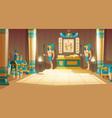 cartoon background ancient pharaoh tomb vector image vector image