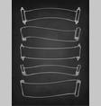 chalk sketch of vintage scrolls vector image vector image