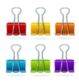 Colorful binder clip set