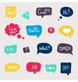 Colorful questions speech bubbles set in flat desi vector image vector image