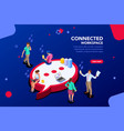 connected people isometric vector image vector image