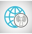 connection concetp globe symbol wifi vector image vector image