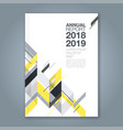 cover annual report 1005 vector image