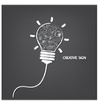 Creative light bulb handwriting style vector image vector image