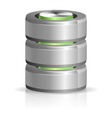 Database and Hard Disk Icon vector image vector image