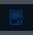 edit document sign icon edit content button vector image vector image