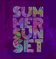 Endless Summer - Artwork for wear in custom colors vector image vector image