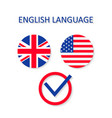 english and us language icon british and vector image vector image