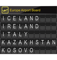 Europe airport digital boarding vector image vector image