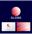 globe logo red planet web ui icon vector image