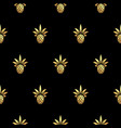 gold pineapple royal seamless pattern on vector image vector image