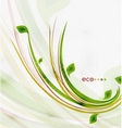 Green eco nature minimal floral concept vector image