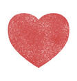 grunge heart isolated vector image vector image