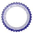 grunge textured rosette circular star frame vector image vector image