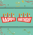 happy birthday design vector image vector image