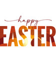 happy easter elegant lettering with calvary cave vector image