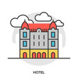 hotel line flat icon vector image