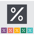 Icon percent sign vector image