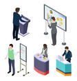 international isometric businesspeople or training vector image vector image
