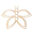 isolated butterfly outline vector image vector image