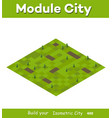 isometric summery city vector image vector image