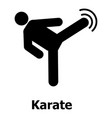 karate icon simple style vector image