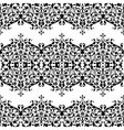 Lace black seamless pattern with flowers on white vector image vector image