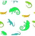 Lizard pattern cartoon style vector image vector image
