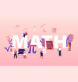 math science concept tiny students characters in vector image vector image