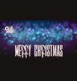merry christmas sale on the background light bokhe vector image vector image