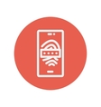 Mobille wifi thin line icon vector image