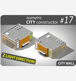 modern isometric mall vector image