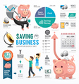 Money Saving Business Template Design Infographic vector image