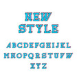 new style isometric font vector image vector image