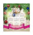 New year festive calendar for 2016 vector image