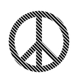 Peace symbol sign vector image