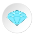 Polished diamond icon cartoon style vector image vector image