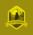 postcard good morning in vector image