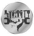 repair tool in hand symbol vector image vector image