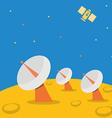 Satellite base station on planet scene vector image vector image