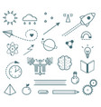 scientific research outline icons set hand drawn vector image