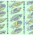 seamless feathers and beads vertical pattern in vector image vector image