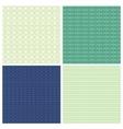 set 4 abstract ornamental seamless patterns vector image