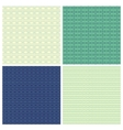 Set of 4 abstract ornamental seamless patterns vector image vector image