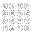 set round line icons survey vector image